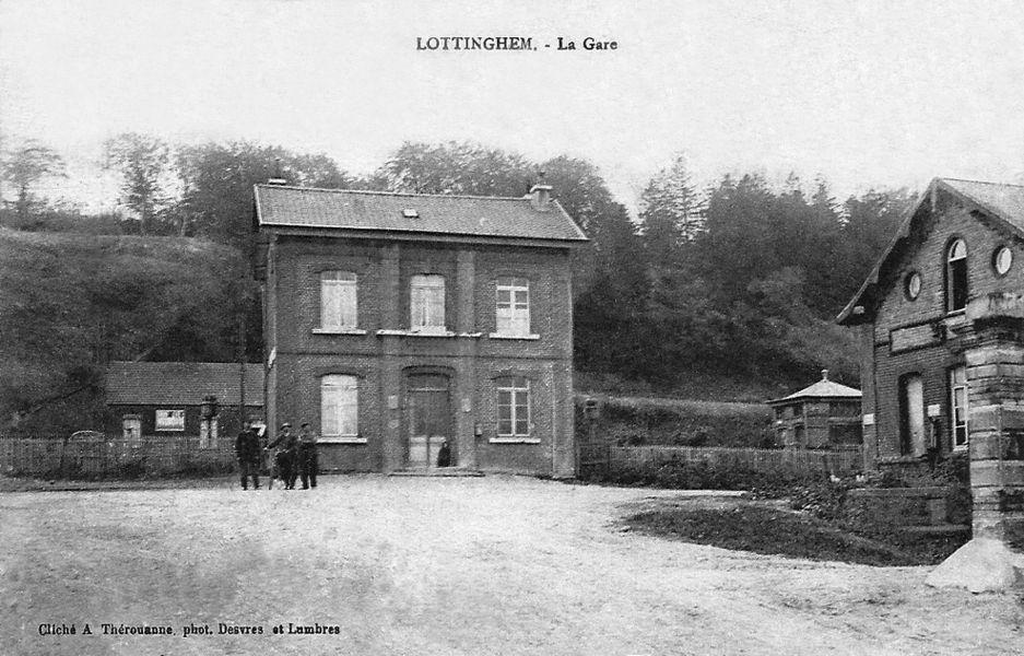 La gare de Lottinghem vers 1900