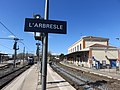 Gare de L'Arbresle - Vue côté est (mars 2019).jpg