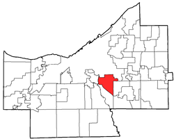 Location of Garfield Heights in Ohio