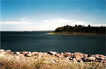 Lake Sakakawea in North Dakota, near Garrison Dam