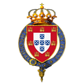 Garter encircled arms of Louis I, King of Portugal.png