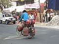 Gas cylinders for refilling by bicycle - panoramio.jpg