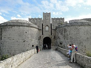Rhodes (city) - Gate d'Amboise to the medieval city.
