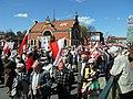 Gdańsk ulica Podwale Grodzkie (demonstracja przeciw homodyktatowi 05.05.2013).JPG