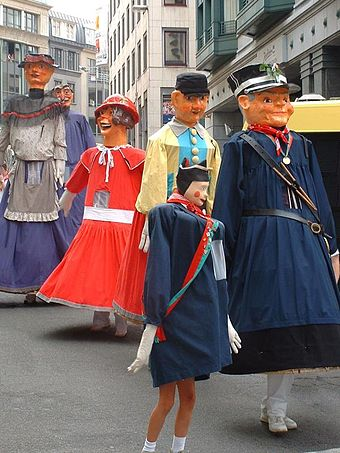 Meyboom giants in Brussels, a UNESCO Intangible Cultural Heritage GeantsMeyboom2.jpg