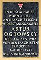 Gedenktafel Bänschstr 50 (Friedh) Artur Ogrowsky.jpg