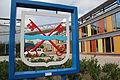 Gemeentewapen Leiderdorp - Willem-Alexanderlaan (Gemeentehuis).JPG