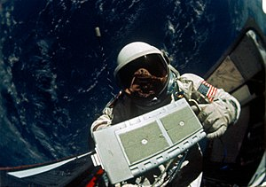 Gemini 12 - Aldrin during an EVA