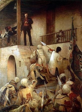 Siege of Khartoum - portrayal of Gordon's death by George W. Joy's