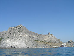 Genoese fortress from sea.jpg