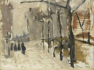 George Hendrik Breitner - Street View in The Hague (?), Rijksmuseum, Amsterdam (SK-A-3547).