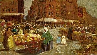 George Luks - Houston Street, 1917, oil on canvas, Saint Louis Art Museum