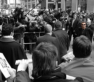 George Michael: A Different Story - George Michael arriving at Berlin's Film Festival in 2005.