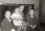 George W., Jeb, Neil, and Marvin in pajamas early 1957.jpg