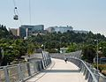 Gibbs Street Ped Bridge with Portland Aerial Tram cabin above.jpg