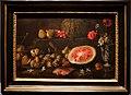 Giovan battista ruoppolo, natura morta con frutta, vaso di fiori e cocomero, 1653.JPG