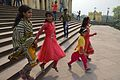 Girl Visitors Crossing Hazarduari Palace Stairs - Nizamat Fort Campus - Murshidabad 2017-03-28 6370.JPG