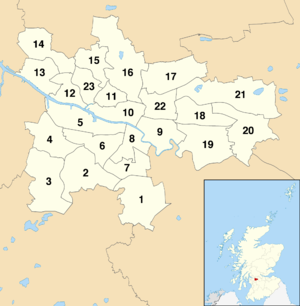 Glasgow City Council - Current Glasgow wards by number
