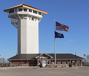 North Platte, Nebraska - Golden Spike Tower and visitor center at Union Pacific's Bailey Yards