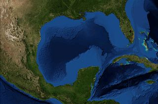 Satellitenfoto vom Golf von Mexiko