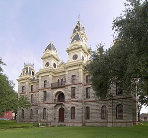 Goliad County Courthouse im Goliad County Courthouse Historic District, gelistet im NRHP mit der Nr. 76002034[1]