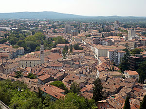 View of the town of Gorizia (Gorica) in Friuli...