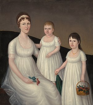 Joshua Johnson (painter) - Grace Allison McCurdy and Her Daughters, Mary Jane and Letitia Grace, ca. 1804, by Joshua Johnson, in the collection of the Corcoran Gallery of Art