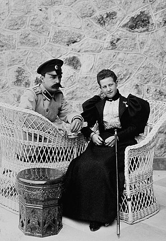 Grand Duke George Mikhailovich of Russia (1863–1919) - Grand Duke George Mikhailovich of Russia and Princes Marie of Greece, who would become his wife.