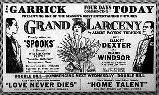 <i>Grand Larceny</i> (1922 film) 1922 film by Wallace Worsley