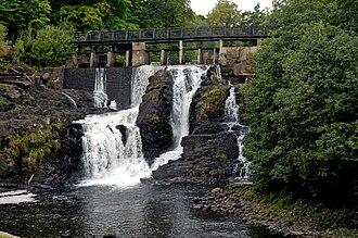Lysakerelven - Fåbrofossen in the fall