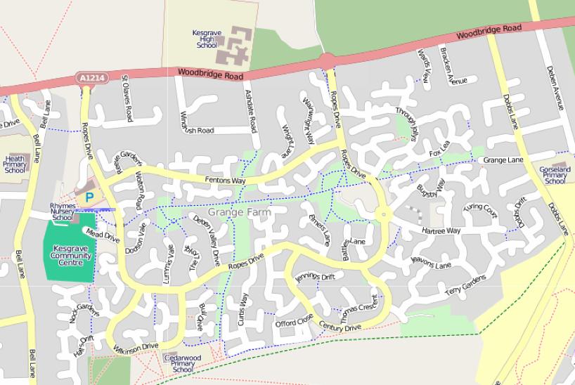 Grange farm map