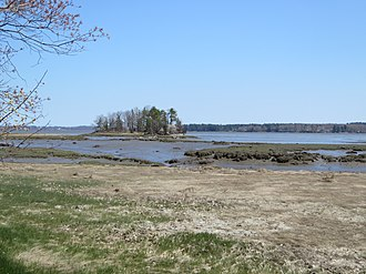 Great Bay (New Hampshire) - View of Great Bay from Lubberland Creek salt marsh on west side