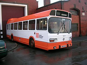 Greater Manchester Transport bus 105 (HNB 24N), Museum of Transport in Manchester, 8 March 2008 (1).jpg