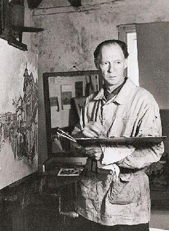 Gregoire Boonzaier - The artist in his studio in Wynberg, 1968