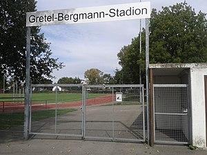 Gretel Bergmann - Gretel-Bergmann-Stadion in Laupheim 2015
