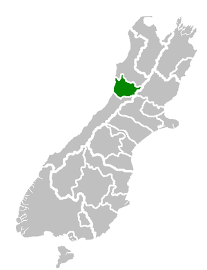 Location of Grey District, New Zealand