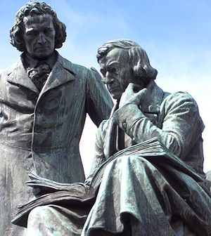 Grimm Brothers Monument at Hanau (Germany).