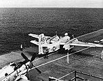 Grumman S2F-1 Tracker of VS-31 aboard USS Wasp (CVS-18), in 1961.jpg