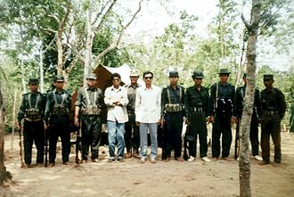 Chittagong Hill Tracts conflict - Shanti Bahini insurgents, photographed on 5 May 1994.