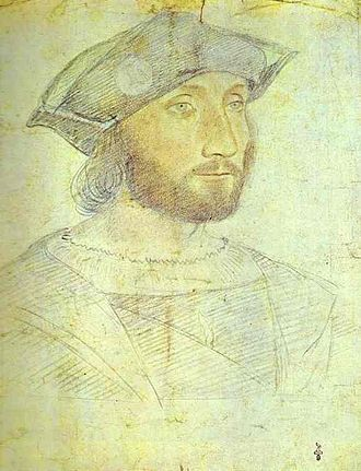 Guillaume Gouffier, seigneur de Bonnivet - Guillaume Gouffier, seigneur de Bonnivet, in a drawing by Jean Clouet (c. 1516). Bonnivet commanded a number of French armies during the Italian War of 1521.