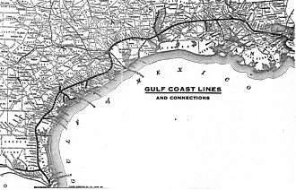 St. Louis, Brownsville and Mexico Railway - Image: Gulf Coast Lines system map