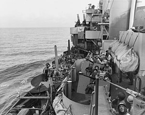 Gun crews aboard USS Phoenix (CL-46) during the Mindoro invasion, 18 December 1944 (80-G-47471).jpg