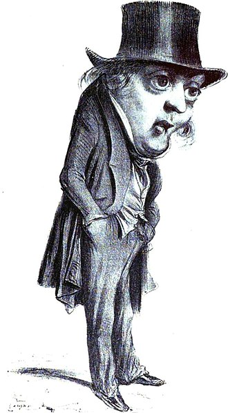 Jean Baptiste Gustave Planche - Caricature of Gustave Planche bv Benjamin.