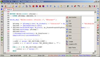 Harbour (software) - HBIDE look.
