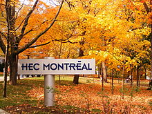 Hec montr al wikipedia for Chambre de commerce mont tremblant