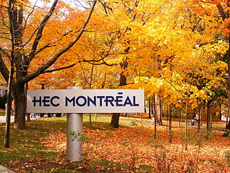 HEC Montréal - HEC Montréal's Signboard on an autumn day