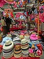 HK 灣仔街市 Wan Chai Market 太原街 Tai Yuen Street stall goods hats caps Apr-2014.JPG