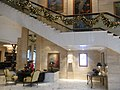 HK ISL Island Shangri-La Hong Kong 港島香格里拉酒店 hotel stairs n service desk Dec-2012.JPG