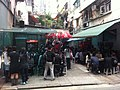 HK Sheung Wan 美輪街 Mee Lun Street sidewalk cafe Gough Street lunch time visitors April-2011.jpg