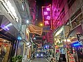 HK TST night 嘉蘭圍 Granville Circuit 利時商場 Rise Shopping Arcade sign 4-Dec-2013.JPG